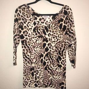Print blouse top